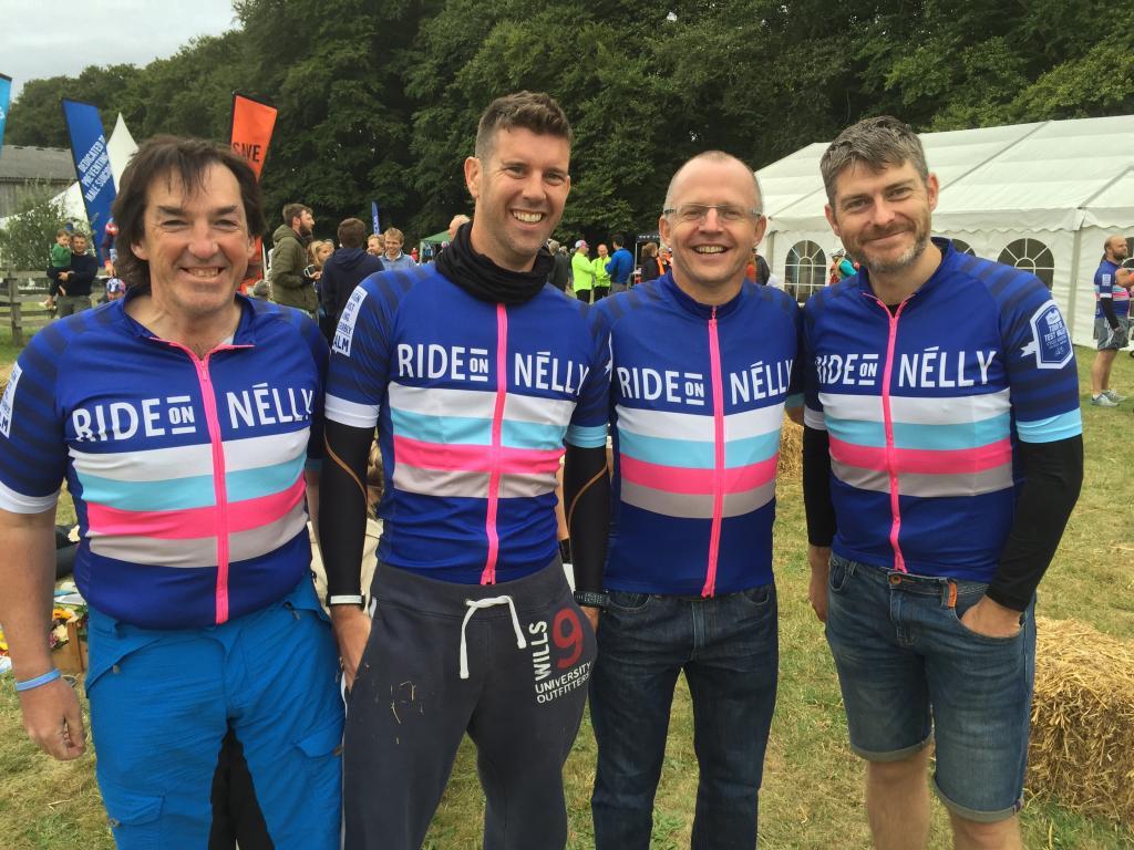 Ross Garfitt, Graham Taylor, Neil Raynsford and Graeme Lovell - Nelson's Tour de Test Valley 2016