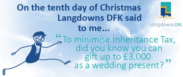 To minimise inheritance tax, did you know you can gift up to £3,000 as a wedding present?