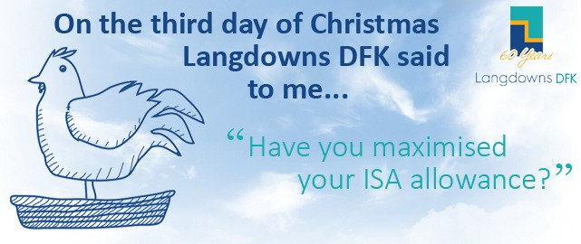 Have you maximised your ISA allowance?