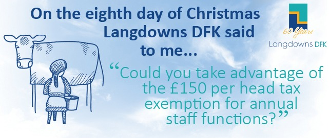 Could you tax advantage of the £150 per head tax exemption for annual staff functions?